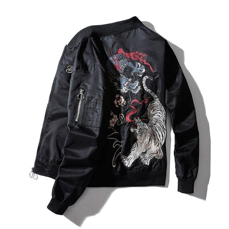 Купить куртка с тигром на спине на Алиэкспресс