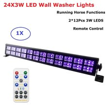 24X3W Disco Lights UV Violet Black Lights Dj Lights Par LED Lamp For Party Wedding Events Lighting Stage Laser Projector Lights(China)