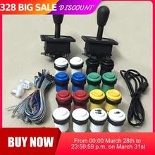 цена на 2 Player Mame Arcade DIY parts: PC PS3 2 in 1 USB encoder to Joysticks 4/8 way & 16 HAPP Push Buttons 60 in 1