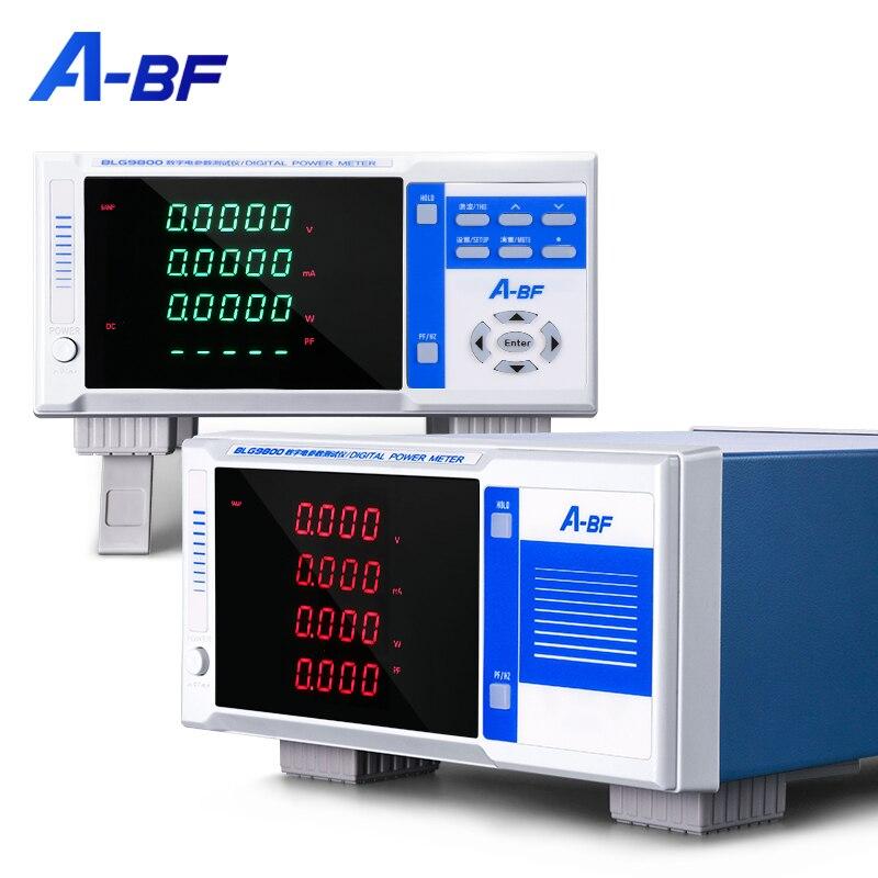 A-BF высокой точности Мощность, цифровой прибор для измерения уровня интеллигентая (ый) электрических параметров тестер AC DC 600V анализатор дин...
