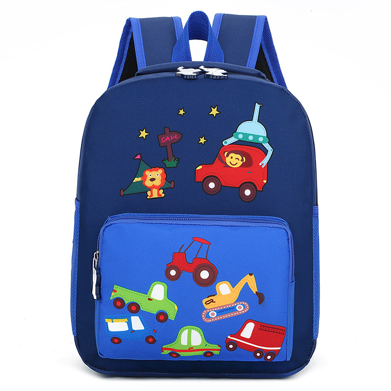 Cartoon Kids Schoolbags For Children 3-5 Years Cartoon Animal Cars Backpack Girls Boys Nylon SchoolBag Kindergarten Baby Gift