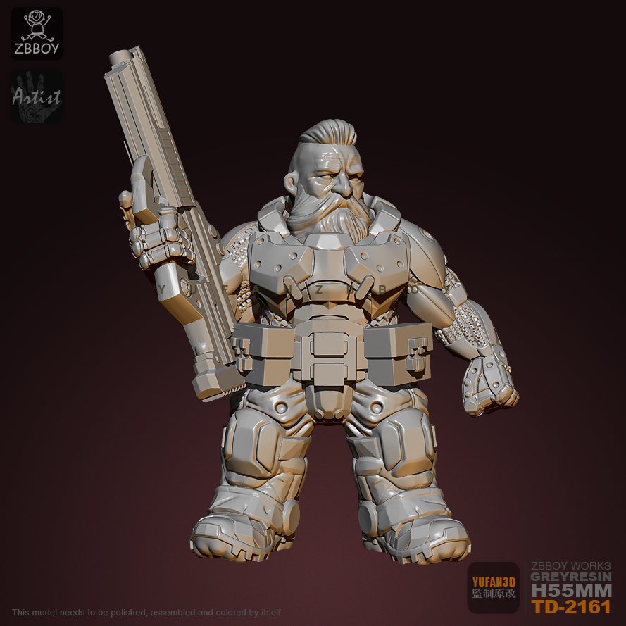 55mm Resin Figure Kits Tylenol Hunter Resin Soldier Self-assembled TD-2161