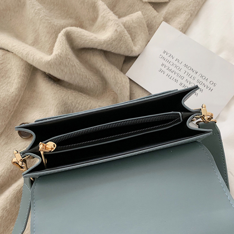 Ultimate SaleSquare Bag Light Messenger-Bag Daily Small Female Blue Waterproof Fashion Woman Simple