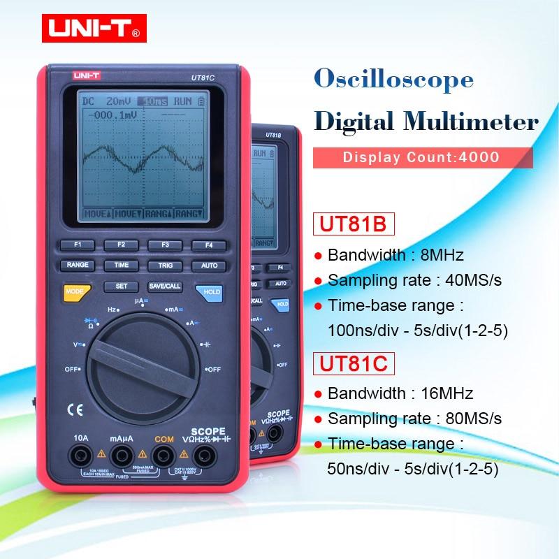 UNI T UT81B Digital Multimeter Handheld Digital Multimeter w/USB/LCD Meter Tester Oszilloskop Eingang Diode Usb schnittstelle