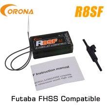 Corona 2.4g r8sf S-FHSS/fhss 8 canais receptor compatível futaba S-FHSS t6 14sg