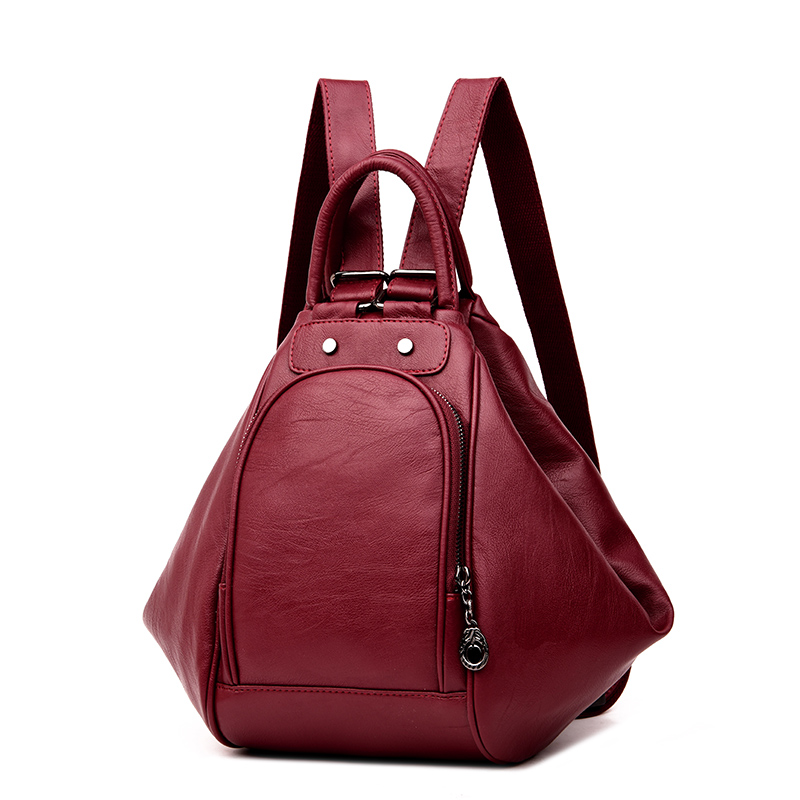 3-in-1 Backpack Multifunction Women Backpack Leather School Bag For Girls Mochila 2019 New Fashion Travel Back Pack Sac A Main