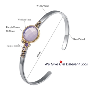 Image 5 - DreamCarnival1989 ブランド新のための薄型軽量毎日ファッションブレスレットピンク紫色のジルコンホットピックジュエリーWB1227