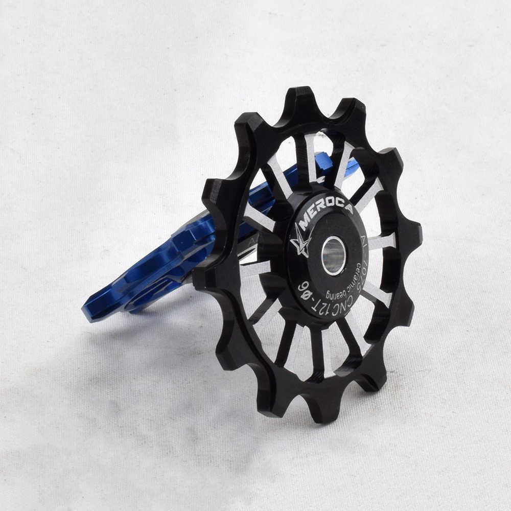 12t al 7075 polia traseira de desviador, roda de jockey de bicicleta de montanha, rolamento de cerâmica, polia guia de bicicleta de estrada mtb para shimano sram