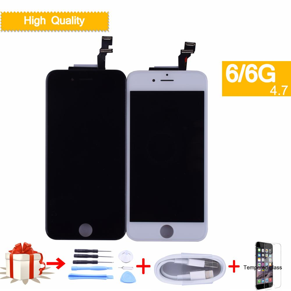 For Apple <font><b>iphone</b></font> <font><b>6</b></font> Full LCD Display Touch <font><b>Screen</b></font> Digitizer Panel Pantalla monitor LCD Assembly Complete A1549 <font><b>A1586</b></font> LCD image