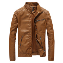 Mens New Winter Leather Jacket Windproof Motorcycle PU Faux Fur Coats Pu Jackets