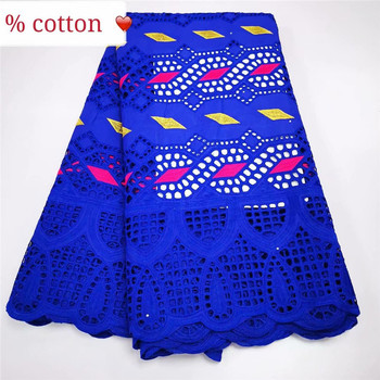 XIUYSAI Punch Holes African Swiss Voile Lace In Switzerland Purple Swiss 100% Cotton Lace Fabric With Stone For Nigerian Dress