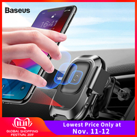 Baseus Qi Car Wireless Charger For iPhone 11 Pro XS Max Samsung S10 Intelligent Infrared Fast Wireless Charging Car Phone Holder