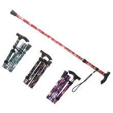 5-Section Outdoor Fold Trekking Poles Printed Walking Stick For Walking Hiking Naturehike Antishock Walking Stick Or Elderly