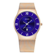 купить Fashion Mens Watches Casual New Trend Luxury Slim Mesh Steel Waterproof Quartz Watch For Men Sports Watch Relogio Masculino 2019 дешево