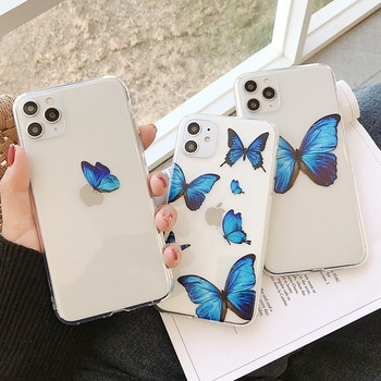 For iPhone 11 Pro Max XR XS Max X Fashion Cute Butterfly Phone Cases For iPhone 7 8 Plus 6 6S Plus Transparent Case tanie i dobre opinie VIVIENCE Zderzak Apple iphone ów Iphone 6 Iphone 6 plus IPHONE 6S Iphone 6 s plus IPhone 7 Plus IPHONE 8 PLUS IPHONE X