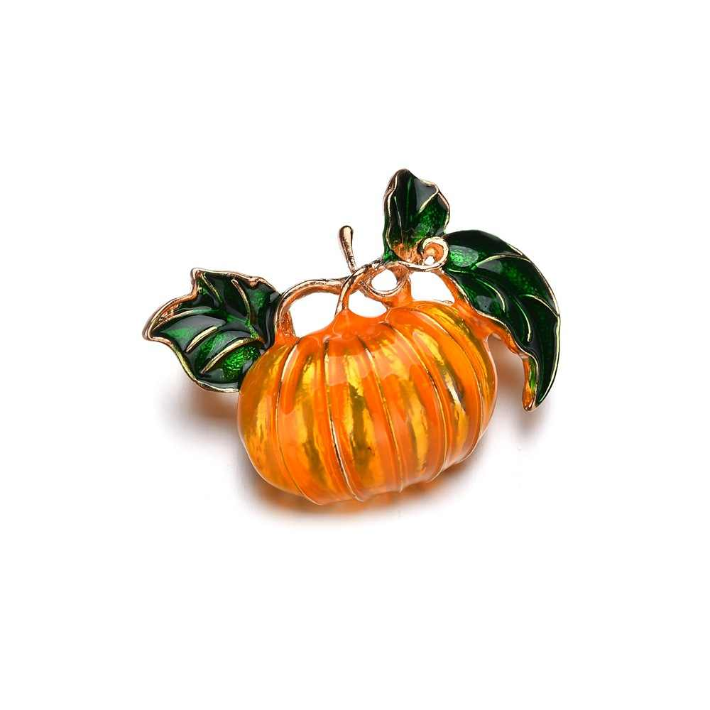 1 Pcs Hot Mutiara Labu Bros untuk Wanita Halloween Enamel Pin Fashion Perhiasan Warna Oranye Anak-anak Hadiah DROP Shipping Baru 2019