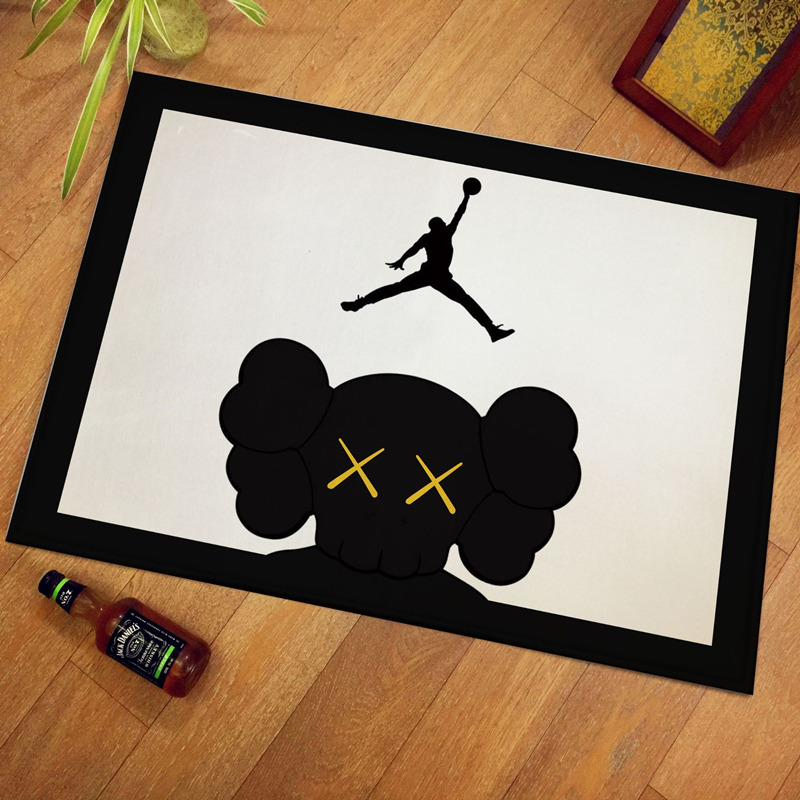 40x60cm/50x80cm Home Textile NBA Basketball Star Thicken Carpet Soft Flannel Non-slip Mats Rug For Bathroom Door Living Room