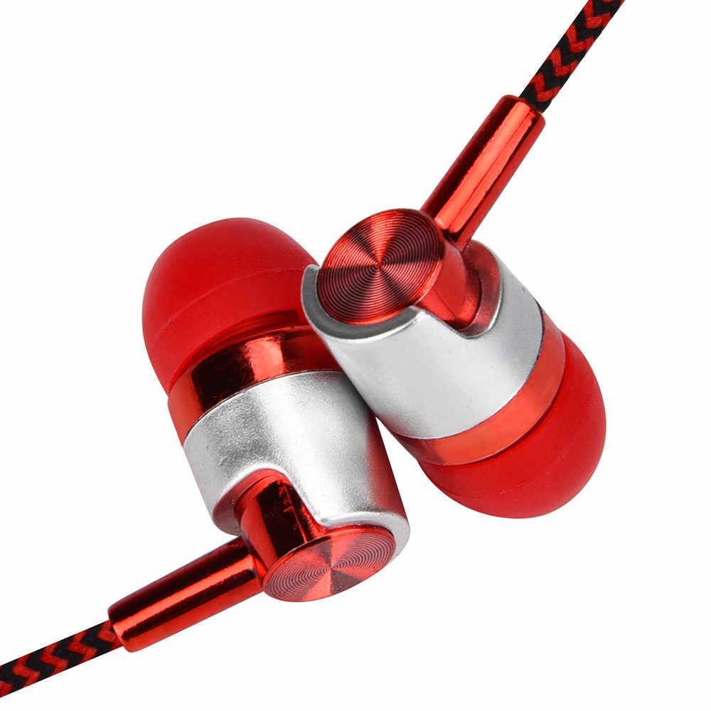 Uniwersalne słuchawki douszne 3.5mm z mikrofonem do telefonu komórkowego do Samsung Xiaomi do iPhone smartfony Y10