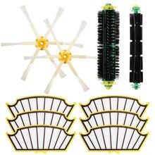 Substituição filtro escova redonda ferramenta de limpeza acessórios kit para irobot roomba série 500 510 530 540 550 560 580 570