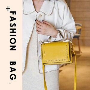 Image 2 - Luxury Handbags Women Bag Designer Crossbody Bags Small Rivet Double Sided Open Shoulder Messenger Bag Women Purses Black Tote