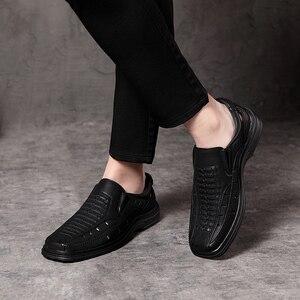 Image 5 - Jackmiller estate calda di vendita sandali super leggeri uomini confortevole sandali degli uomini traspirante slip on scarpe da uomo solido lato nero goring