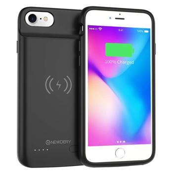 Чехол для аккумулятора NEWDERY для iPhone 6, 6s, 7,8, 3200 мАч, Беспроводная зарядка, расширенный аккумулятор, чехол для iPhone 6, 6s, 7, 8, черный