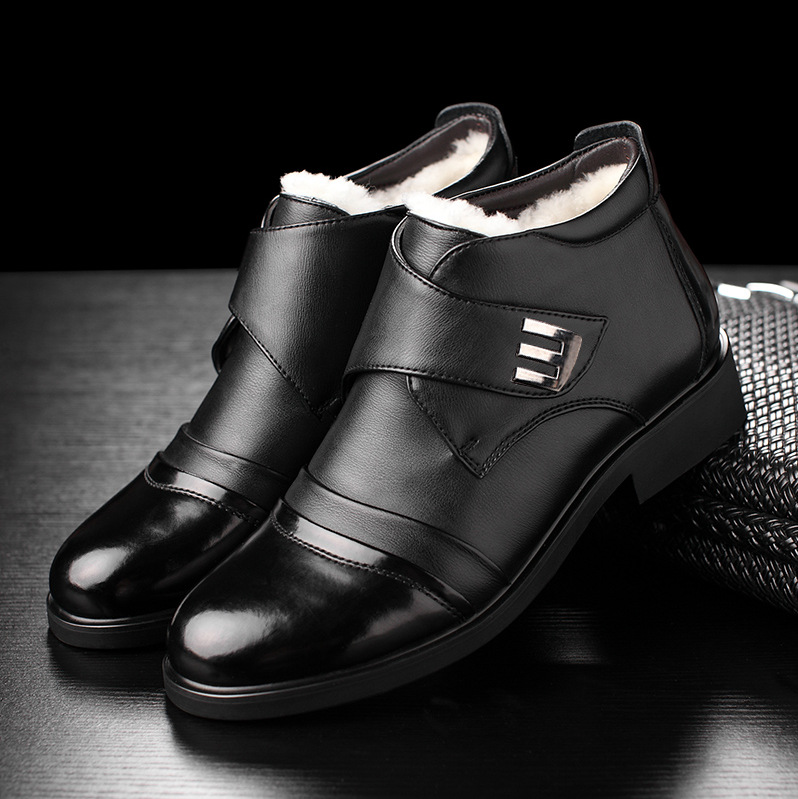 Wool Blend Men Winter Boots Size 38~46 Warmest Leather Russian Style Men Snow Boots 789