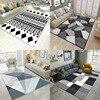Nordic entrance bedroom home printing living room carpet wholesale modern geometric sofa coffee table blanket bay window blanket