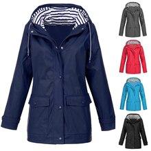 Women Jackets fashion female Solid Rain Jacket Outdoor Water