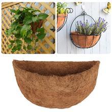 Coconut Fiber Flower Pot Basket Plant Pot Plant Holder Home Wall Hanging Plant Basket Wall-mounted Flower Pot Garden Decortion