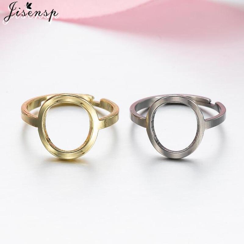 Moda geometryczna Hollow okrągły regulowany pierścień minimalistyczna biżuteria dla kobiet Punk koło metalowe pierścionki akcesoria ze stali nierdzewnej