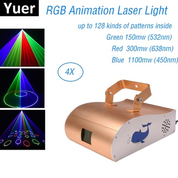 DJ Equipments 1550MW 1.5W RGB Laser Projector Professional Stage Lighting Effect DMX 512 Scanner DJ Disco Party Show Lights DMX chauvet dj dmx an
