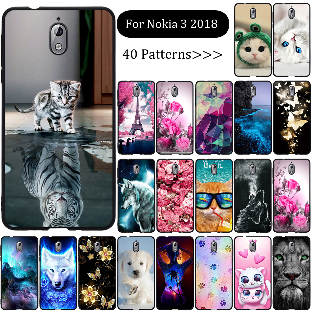 <font><b>Case</b></font> For <font><b>Nokia</b></font> <font><b>3</b></font> 2018 <font><b>Case</b></font> Silicone Cute Animal Cartoon Back Cover Coque Shell Funda For <font><b>Nokia</b></font> <font><b>3</b></font>.1 TA-1063 TA-1057 Phone <font><b>Case</b></font> image