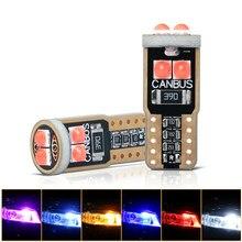 10 pces t10 led w5w 194 3030 6smd canbus nenhum erro carro interior luz led luzes do instrumento lâmpada cunha luz 12v 6000k