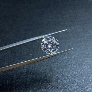 Lab diamond 8 мм D цветное свободное Moissanite 2ct VVS1 превосходное круглое кольцо с бриллиантами для изготовления ювелирных изделий камень DIY
