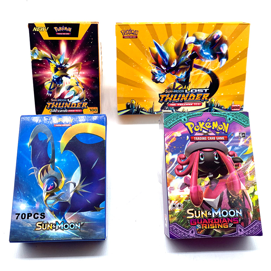 Anime 300pcs Pokemon Card 2019 English Pet Elf Battle Card GX Pocket Monster Game Collection Children's Gifts For Christmas