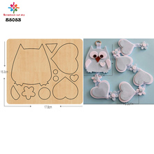home decoration accessories  Owl cutting dies  wooden die cutting  for scrapbooking  15.8mm/ S5053