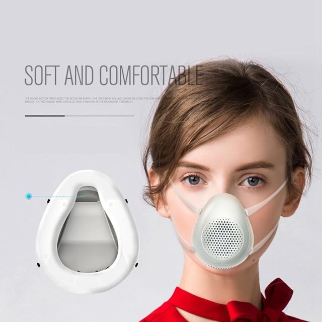 Half Face Smart Electric Masks Anti-Bacterial Haze Flu Dust-Proof Breathable,N95 Level Protective Masks 1