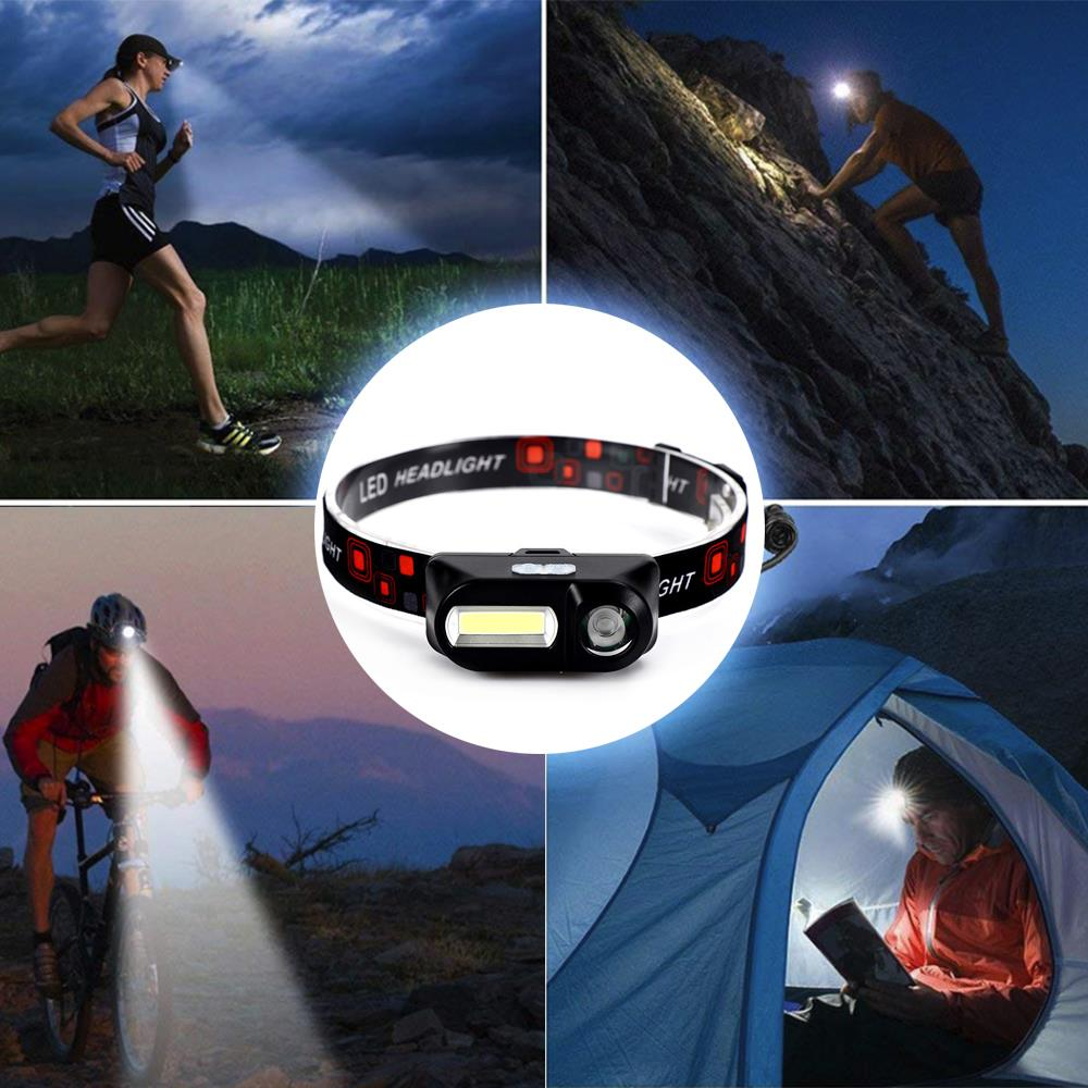 Portable Black COB Reading Lighting LED Eyeglasses Mini Flashlight Outdoor Sea Fishing Fishing Light Durable