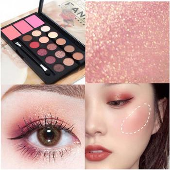 USHAS Eyeshadow Palette With 3 Colors Blush Coffee Makeup Sets Smooth Long Lasting Beauty For Party Cosmetic TSLM1 Shimmer Matte
