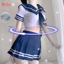 OJBK Women Sexy Cosplay Lingerie Student Uniform school girl Ladies Erotic Costume Babydoll Dress Women Lace Miniskirt Outfit