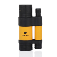 COHIBA Unique Designed Cigar Lighter Metal 3 Jet Flame Butane Gas Cigarette Lighter Windproof Cigar Accessories все цены