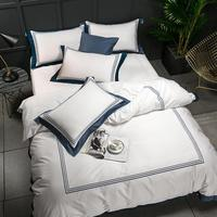48 Hotel White Luxury 100% Egyptian Cotton Bedding Sets Full Queen King Size Duvet Cover Bed/Flat Sheet Fitted Sheet set Pil