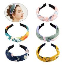 Hair Accessories 5 PCS Hairbands, Floral Headband for Women Bands Womens Fashion Headbands Knotted