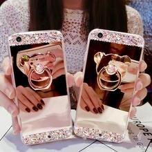 Модный Кристальный Блестящий зеркальный чехол для iphone 11
