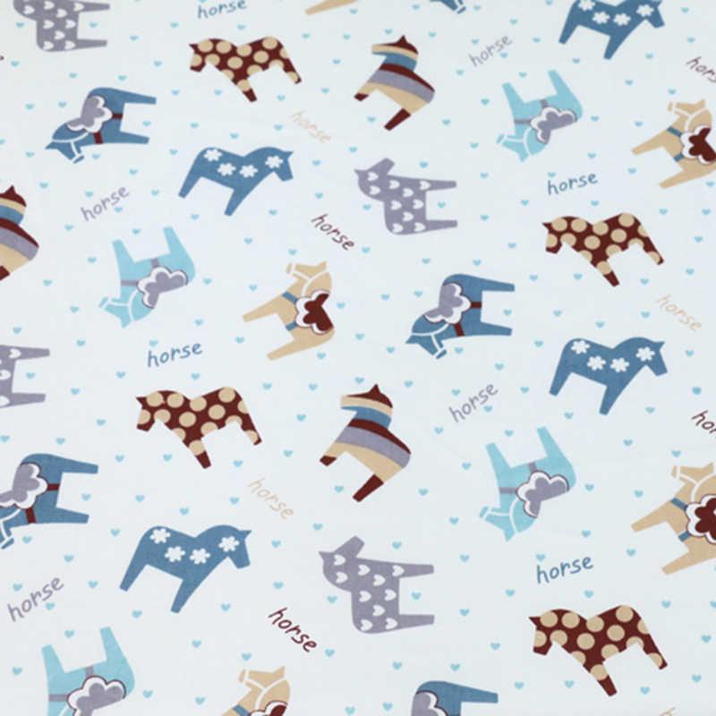 Wydrukowano Pony wzór 100% tkanina bawełniana do produkcji sukienki poduszki koc szycia dziecko dziecko prześcieradło tekstylne