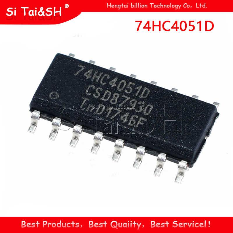 10PCS 74HC4051D SOP-16 74HC4051 Integrated Circuit IC New
