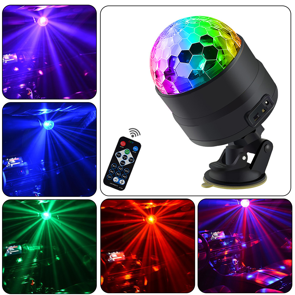 USB LED Bar Stage Lighting RGB Mini Disco Ball Light Sound Activated DJ Projector Party Lights For Car Home KTV