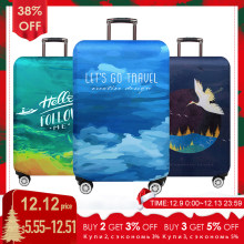 JULY'S SONG Trolley Luggage Protctive Cover Travel Suitcase Case Elastic Suitcase Protective Covers For 18-32 Inch Luggage Cover(China)