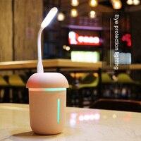 200ml USB Aufladbare Lampe Luftbefeuchter Aroma Ätherisches Öl Diffusor Ultraschall Kühlen Nebel Luftbefeuchter Luftreiniger Mit Mini Fan